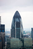 City of London panorama Gherkin building Royalty Free Stock Photo