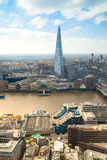 City of London panorama includes Shard of glass on the River Thames Royalty Free Stock Photos