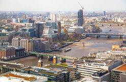 City of London panorama includes Shard of glass on the River Thames Stock Images