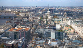 City of London panorama includes st. Paul cathedral Royalty Free Stock Images