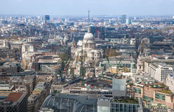 City of London panorama includes st. Paul cathedral Royalty Free Stock Photography
