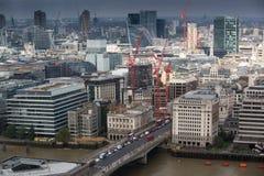 City of London panorama, London bridge Royalty Free Stock Images