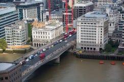 City of London panorama, London bridge Stock Image