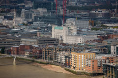 City of London panorama, London bridge Stock Photo