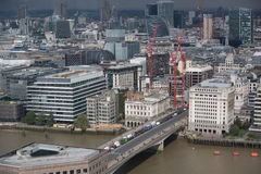City of London panorama, London bridge Royalty Free Stock Image