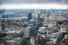City of London panorama, London eye Stock Photography