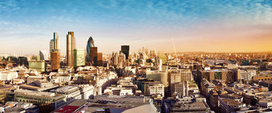 City of London panorama Royalty Free Stock Image