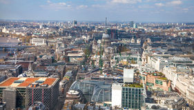 City of London panorama st. Paul cathedral and Westminster side of London Royalty Free Stock Photos