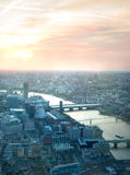 City of London panorama at sunset. Royalty Free Stock Photo