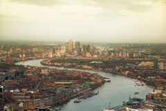 City of London panorama at sunset. Stock Images