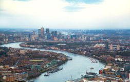 City of London panorama at sunset. Stock Photo