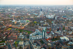 City of London panorama, at sunset Royalty Free Stock Images