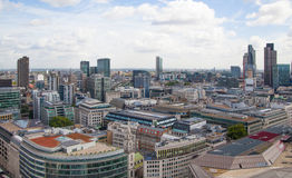 City of London panorama, view from st. Paul cathedral Royalty Free Stock Photography