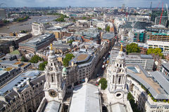 City of London panorama, view from st. Paul cathedral Stock Images