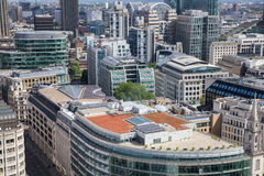 City of London panorama, view from st. Paul cathedral Stock Photos