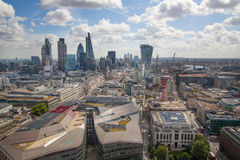 City of London panorama, view from st. Paul cathedral Stock Image