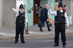 City of London Police officers stock photography