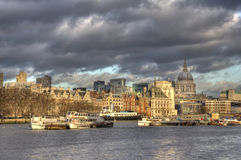 City of London across the Thames Royalty Free Stock Images