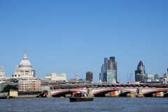 City of London and river Royalty Free Stock Photos