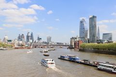 The city of London and river Thames Royalty Free Stock Photo