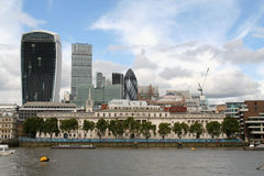 City of London and the River Thames. Royalty Free Stock Images