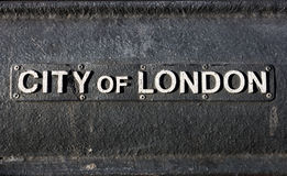 City of London Sign Royalty Free Stock Image