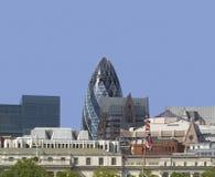 City of london skyline. Buildings the gherkin Royalty Free Stock Photo