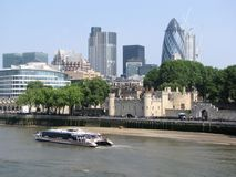 City of London skyline. The City of London skyline as viewed from the south side of the Thames at elevation Stock Photos