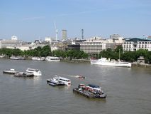 City of London skyline. The City of London skyline viewed from the south side of the Thames at elevation Stock Photos