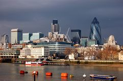 City of London Skyline. City of London viewed from the river Thames Stock Photo