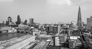 City of London skyline - aerial view from Tate Modern - LONDON - GREAT BRITAIN - SEPTEMBER 19, 2016. City of London skyline - aerial view from Tate Modern Royalty Free Stock Photos