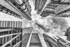 City of London. Skyline as seen from street. Skyward view. Busin. Ess concept Stock Photo