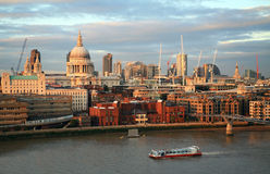 City of London skyline from Bankside Stock Images