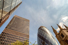 City of London. Skyline on a beautiful summer day.  Royalty Free Stock Photography