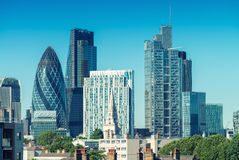 City of London. Skyline on a beautiful summer day.  Royalty Free Stock Photos