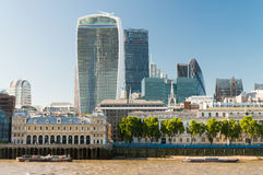 City of London - Skyline on a beautiful summer day.  Stock Photography