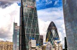 City of London Skyline On A Beautiful Sunny Day, UK.  Royalty Free Stock Image