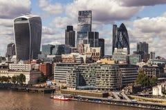 City of London skyline buildings Royalty Free Stock Photo