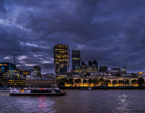 City of London Skyline at Dusk Stock Photos