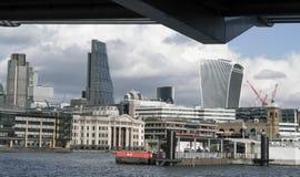 City of London skyline LONDON,. ENGLAND - FEBRUARY 22, 2016 Stock Photos