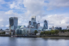 City of London Skyline. City of London. Skyline of the modern buildings and the Thames river Royalty Free Stock Photos