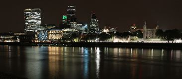 City of London skyline at night Royalty Free Stock Image
