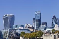 City of London skyline over landmark buildings Stock Image
