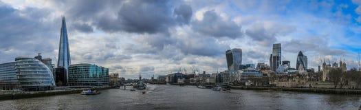 City of London skyline. City of London skyline and the river Thames Stock Photos
