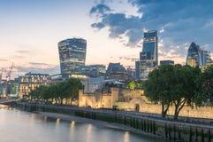 City of London - Skyline at sunset.  Stock Photos