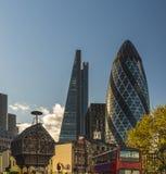 City of London Skyline at sunset Royalty Free Stock Photos