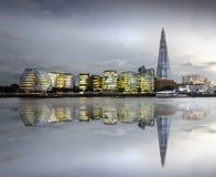 City of London Skyline. At sunset, United Kingdom Stock Photos
