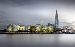City of London Skyline. At sunset, United Kingdom Stock Image