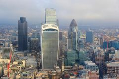 City of London Skyscrapers Royalty Free Stock Photography