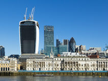 City of London from the South Stock Image